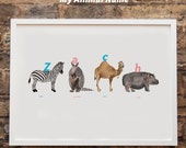 Personalised Animal Name Print