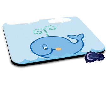 Happy Whale in the Ocean Mousepad