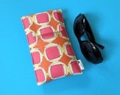 Roomy Sunglasses Case in a Geometric Design