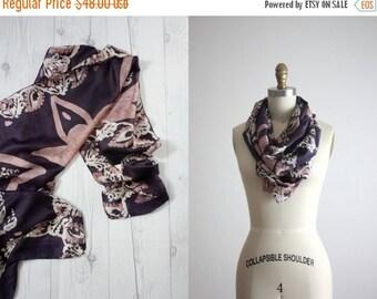 VACATION SALE. 1960s silk batik scarf
