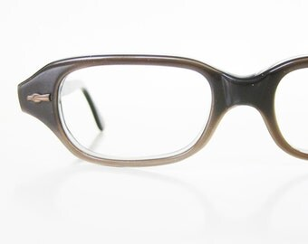 1960s Vintage Reading Glasses Womens Mocha Metallic Brown Mod Mid Century Modern Indie Hipster Chic 60s Sixties Ladies Girls Geeky