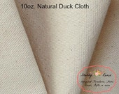 Natural Canvas Duck Cloth Fabric 10oz Premium 100% Cotton