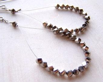 hypoallergenic earrings - pure titanium earrings - titanium hoop earrings - silver earrings dangle - silver earrings - bridesmaid earrings