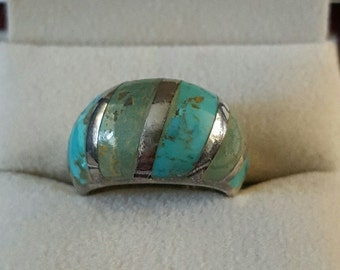 Vintage Sterling Silver and Turquoise Ring Size 6