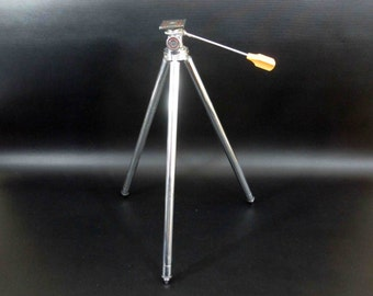 Vintage Compact Camera Tripod in Chrome. Circa 1960's.