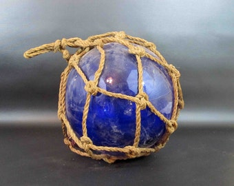 Vintage Glass Fishing Net Float. Large Hand Blown Glass Net Float. Circa 1920's - 1930's.