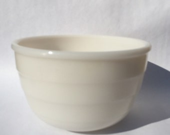 Vintage Milk Glass Mixing Bowl GE Mixer