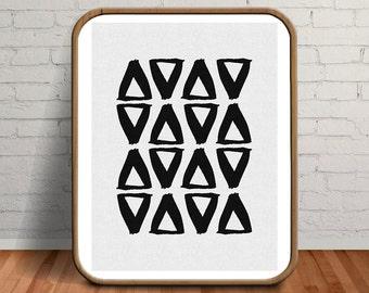 Abstract Art, Tribal Print, Geometric Print, Abstract Painting, Geometric, Black Print, Abstract Black and White, Pattern Print, Tribal