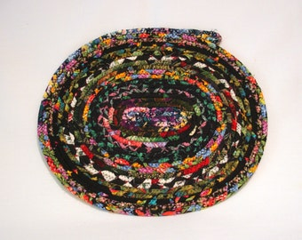 Midnight Garden Coiled Fabric Table Mat, Candle Mat