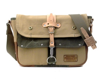 Recycled French Army Tent Canvas Duffle Bag // Handmade by peace4you, GERMANY // Model paul-1936 classic