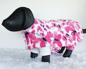 Dog Fleece Coat, Dog Fleece Pajamas, Fleece pajama and robe set for large dogs, Butterflies fleece pj's for Shih Tzu
