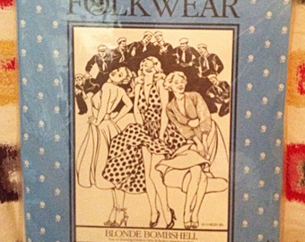 Blonde bombshell dress pattern Folkwear pattern no. 239