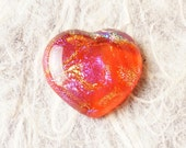 HeArT Dichroic Fused Glass Focal Cab Bead Pendant Necklace