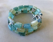 Ancient Roman Glass Bracelet Triple Wrap