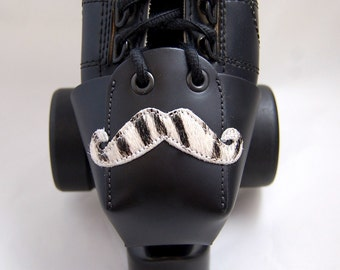 Leather Toe Guards with Zebra Mustache