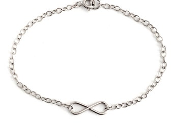 Infinity Sterling Silver Bracelet. Aziza Jewelry