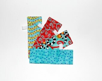 DPN Storage Pocket  Sock Needle Protector 5 inch needles Set of four  gift for knitter Happy Quiltsy Handmade