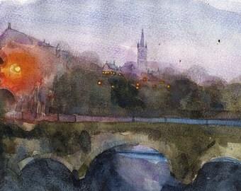 Glasgow University, Twilight