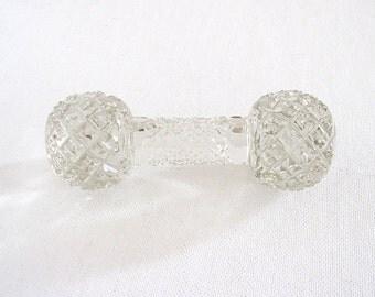 Vintage Knife Rest Cut Crystal Large