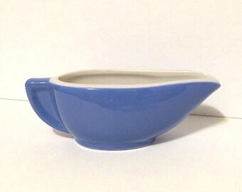 Vintage Hall China Individual Creamer, Syrup or Gravy Pitcher Cornflower Blue Restaurant Ware