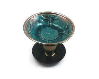 Aromatherapy ESSENTIAL OIL Diffuser Dragonfly Labyrinth Ceramic Raku Pottery