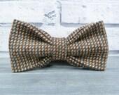 Harris Tweed Bow Tie - Brown/Steel Grey