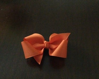 Toddler orange grosgrain hairbow