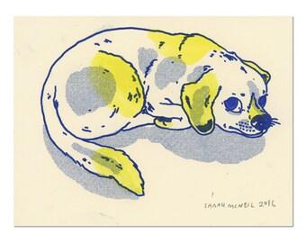 Hand painted Dog Print 02