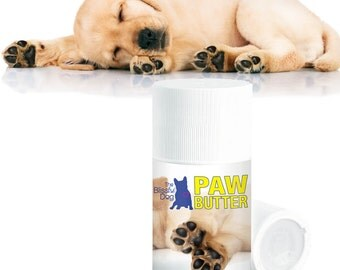 DOG PAW BUTTER All Natural Handcrafted Help for Dry, Rough Dog Paw Pads Big 3 oz Push-Up Tube With Puppy Paws on the Label in Gift Bag