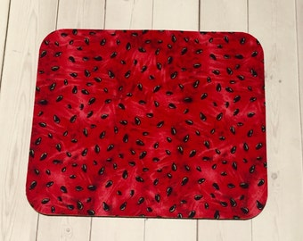mousepad / Mouse Pad / Mat round or rectangle - watermelon - desk computer coworker gift accessory decor