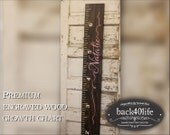"Premium wide ruler growth chart (The Natalie) - engraved lettering with name and ribbons 60"" (GC-60N)"