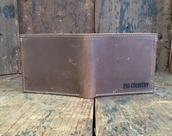 Leather Bifold Wallet - Mens Bifold Wallet - Slim Bifold Wallet - Crazy Horse