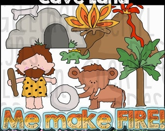 Cave Land Clipart Collection - Immediate Download