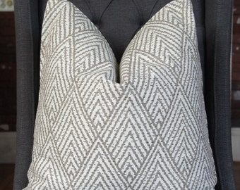 Taupe Geometric Pillow Cover, Decorative Pillow, Throw Pillow, Toss Pillow, Sofa Pillow, Home Decor, Home Furnishing