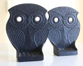 Vintage cast iron owl bookends... Japanese Modern...