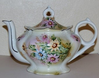 "LEFTON Musical Floral Teapot plays ""Tea for Two"""