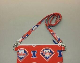Philadelphia Phillies MLB cross body bag handmade