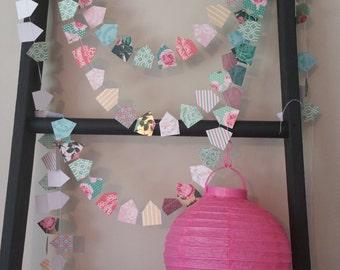 Pastel Little Paper Houses Garlands