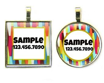 Mid Century Modern Custom Silver Pet ID Tag