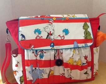 Dr. Seuss inspired diaper bag for baby girls and boys/ Christmas in July