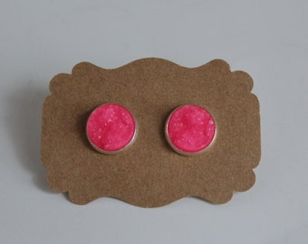Hot Pink Earrings Etsy