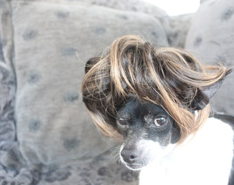Pet   wig  for dog or cat brown color