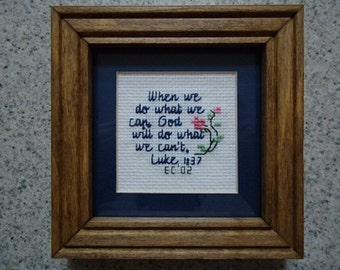 What We Can - Inspirational Cross Stitch Picture - Wall Decor