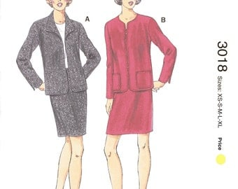 Kwik Sew 3018 Sewing Pattern, XS, S, M, L, XL, Ladies Jackets and Skirts