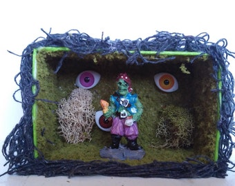 Tiny Pirate Zombie Diorama. Perfect for Halloween!
