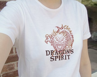 Cool dragon spirit mythological animal illustration, white tee, T-shirt, tshirt, gift | mens womens unisex sizes