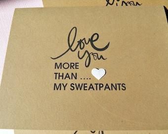 Humorous Romantic Cards - Humorous Birthday Cards - Humorous Friendship Cards - Humorous Love cards - Kraft card stock cards - lym1
