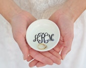 Personalized Monogrammed Ring Bowl Wedding Gift Bridal Shower Bridesmaid Gifts Custom Made #MHDSWN1001