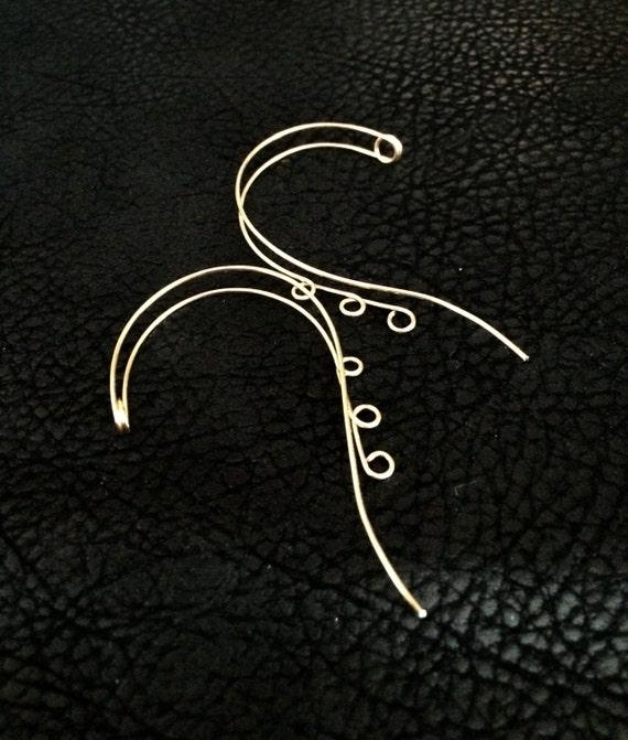 Ear Cuff, Ear wrap, Ear jacket, Beading Blank, ear decoration, 2 cuffs
