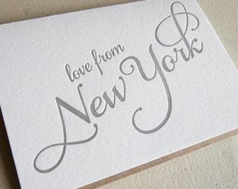 Letterpress Greeting card - Regional Love from New York